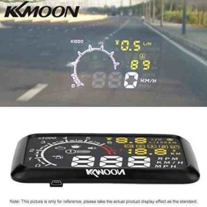 """KKmoon HUD Head Up Display 5.5"""" Sistema Alerta de Velocidad OBD 2 Interfaz para Parabrisas Coche con Bluetooth"""