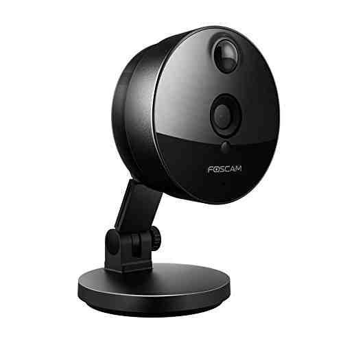 Foscam C1 - Cámara IP de vigilancia de interior, 1.0 MP, función P2P, 720p, H264, WIFI, seguridad, alarma detección movimiento, visualización remota, compatible con iOS y Android, slot tarjeta Micro SD, color negro