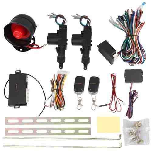 Universal Cierre Centralizado Antirrobo Coche 2 Remoto + Alarma Kit