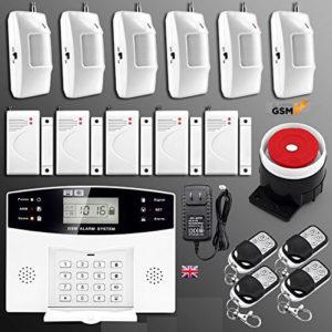 Kit alarma inalámbrica GSM para hogar casa o negocio App IOS Android modelo 30-A sin cuotas