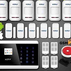 Kit alarma Kerui 8218G inalámbrica GSM para hogar casa o negocio App IOS Android sin cuotas