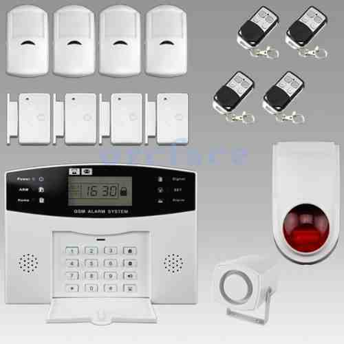 Discoball® LCD Wireless GSM SMS autodial casa casa oficina Alarma de Seguridad Antirrobo Intruder