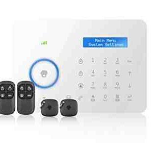 CHUANGO CG-B11 - Kit sistema de alarma PSTN DUAL, GSM/telefónica por cable, sirena incluida, color blanco