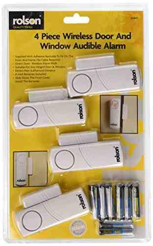 Rolson 66845 - Alarma inalámbrica para ventanas y puertas (4 unidades) [Importado de Reino Unido]