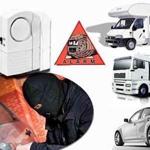 Mini-alarma para coche caravana camión sin hilos 100dB - Función antirrobo y antiladrones mws1452