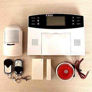 ALARMA PARA CASA HOGAR NEGOCIO GSM INALAMBRICA MOVIL CON PANTALLA TECLADO LCD CON MANUAL Y VOCES EN CASTELLANO ESPAÑOL DE FACIL INSTALACION CARTEL ADHESIVO REGALO GRATIS