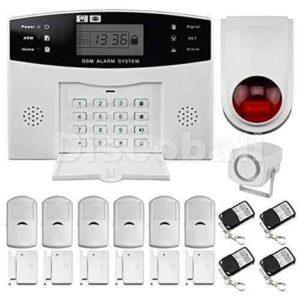 Discoball Sistemas de Seguridad Alarmas (Antirrobo, pantalla de menú, GSM, 99 Zonas inalámbricas , Marcado Automático) la seguridad de su casa